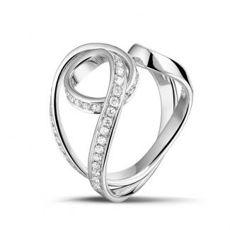 Dancing Lady - 0.55 carat diamond design ring in white gold