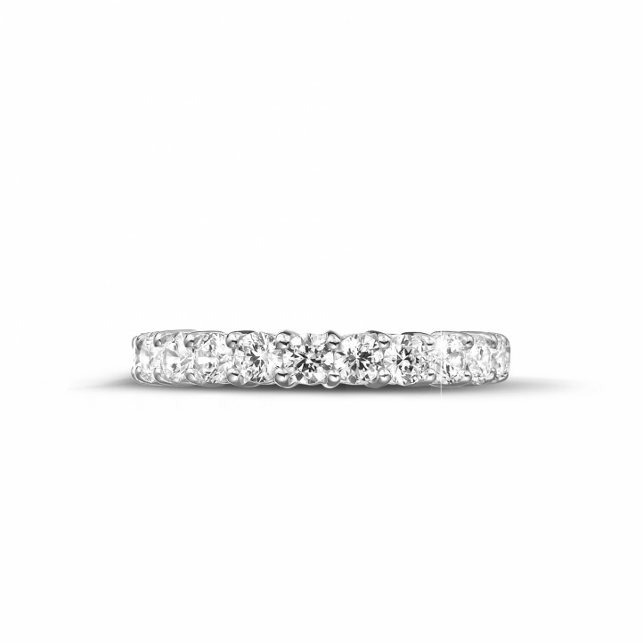 2.30 carat diamond eternity ring in white gold