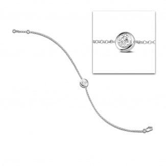 Bracelets - 0.70 carat diamond satellite bracelet in white gold
