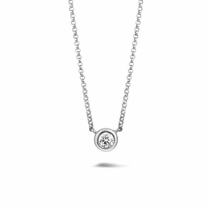 0.30 carat diamond satellite pendant in white gold