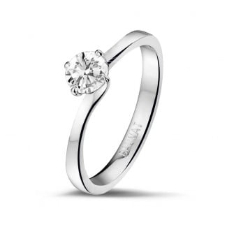 - 0.50 carat solitaire diamond ring in white gold