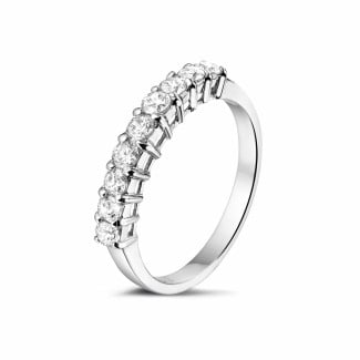 0.54 carat diamond eternity ring in platinum