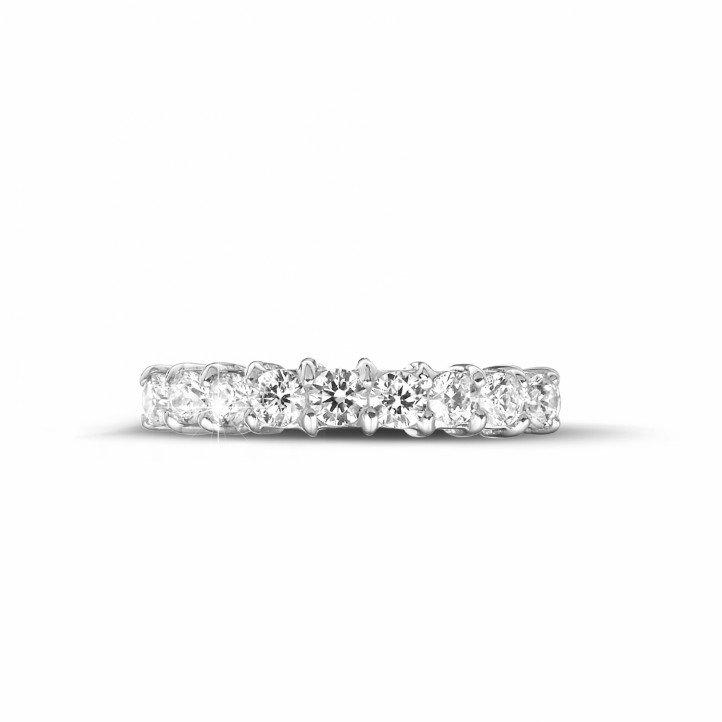0.54 carat diamond eternity ring in platinum