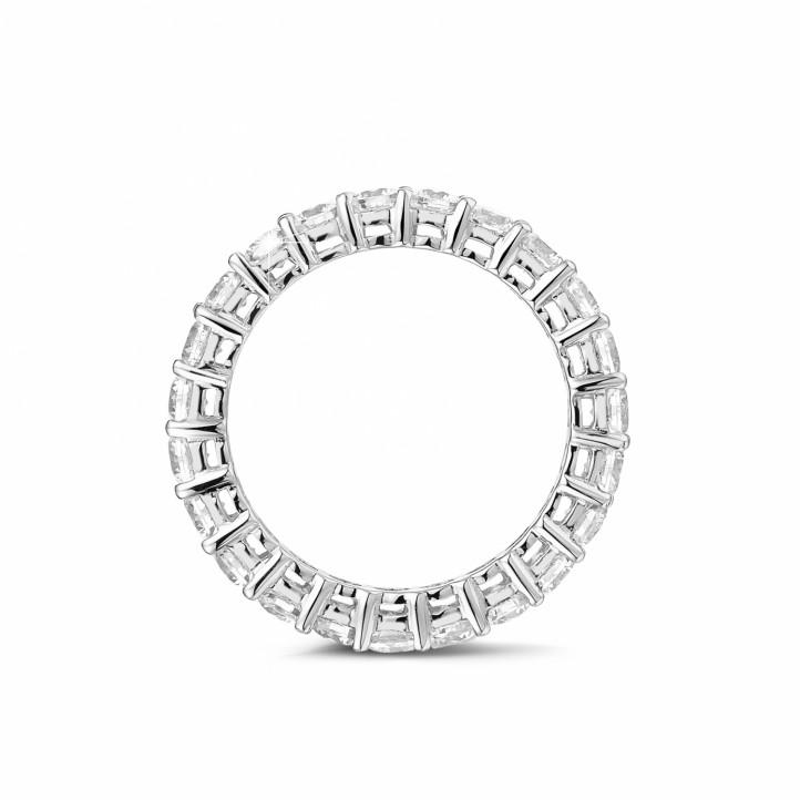2.30 carat diamond eternity ring in platinum