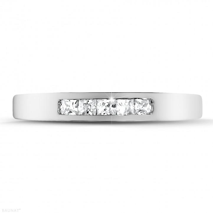 0.30 carat platinum eternity ring with princess diamonds