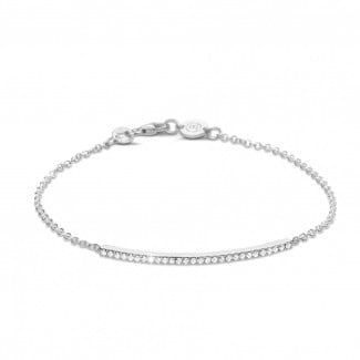 Bestsellers - 0.25 carat fine diamond bracelet in white gold