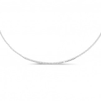 Necklaces - 0.30 carat fine diamond necklace in white gold