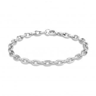 Bracelets - Elegant chain bracelet in white gold