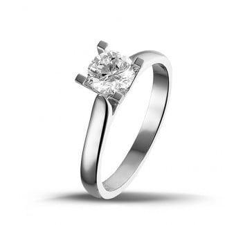 - 0.75 carat solitaire diamond ring in white gold