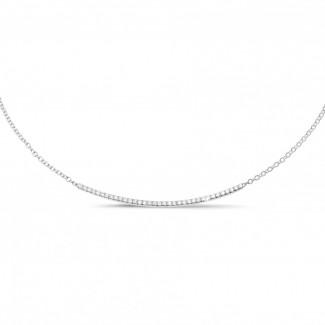 Diamond Necklaces - 0.30 carat fine diamond necklace in platinum