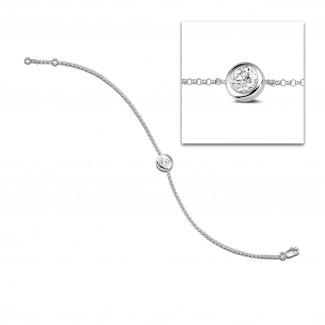 Bracelets - 0.70 carat diamond satellite bracelet in platinum