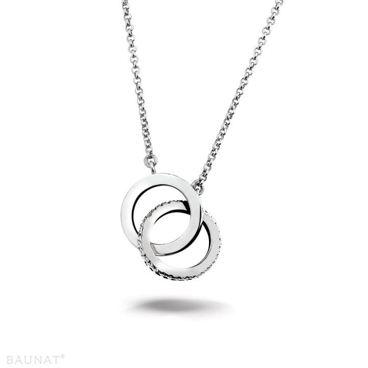 0.20 carat diamond design infinity necklace in platinum