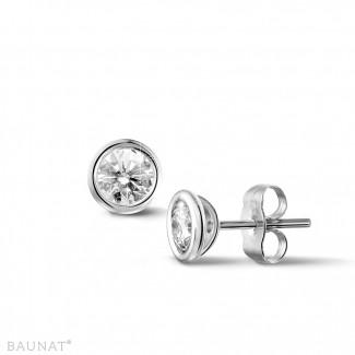 0.60 carat diamond satellite earrings in platinum
