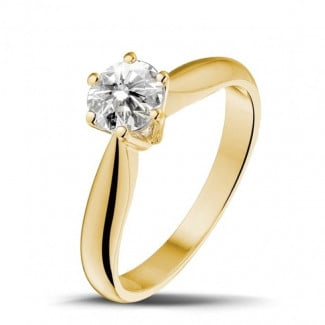 Classics - 0.70 carat solitaire diamond ring in yellow gold