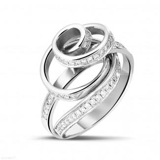 Dancing Lady collection - 0.85 carat diamond design ring in platinum