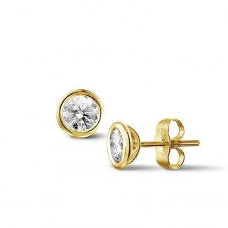 0.60 carat diamond satellite earrings in yellow gold