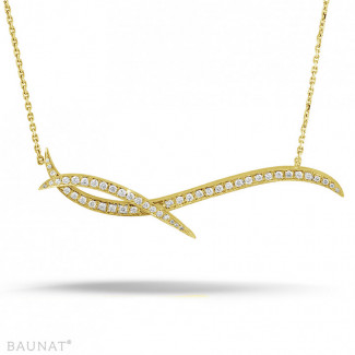 Nathu collection - 1.06 carat diamond design necklace in yellow gold