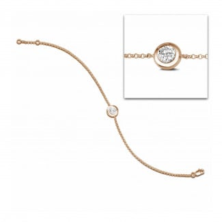 Bracelets - 0.70 carat diamond satellite bracelet in red gold