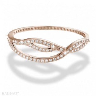 Bracelets - 2.43 carat diamond design bracelet in red gold