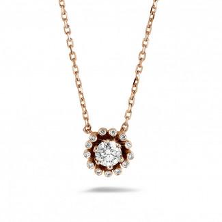 - 0.50 carat diamond design pendant in red gold