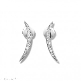 Nathu collection - 0.36 carat diamond design earrings in white gold