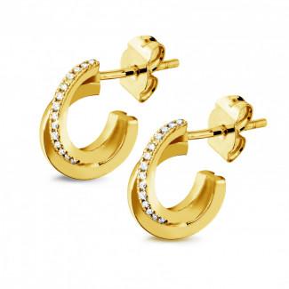 Earrings - 0.20 carat diamond design earrings in yellow gold