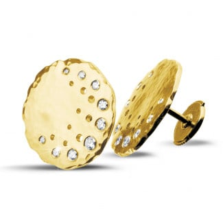 Yellow Gold - 0.26 carat diamond design earrings in yellow gold
