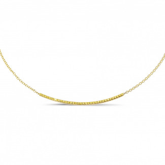 Necklaces - 0.30 carat fine necklace in yellow gold with yellow diamonds