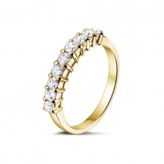 Classics - 0.54 carat diamond eternity ring in yellow gold