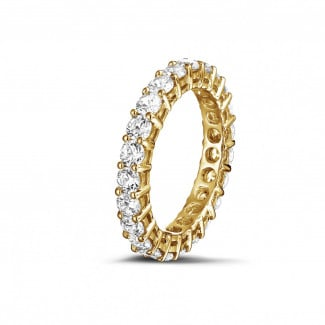 2.30 carat diamond eternity ring in yellow gold