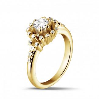 - 0.50 carat diamond design ring in yellow gold
