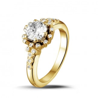 0.90 carat diamond design ring in yellow gold