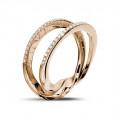 0.26 carat diamond design ring in red gold