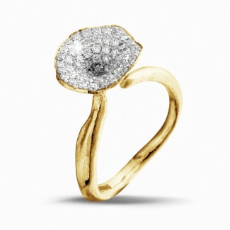 0.54 carat diamond design ring in yellow gold