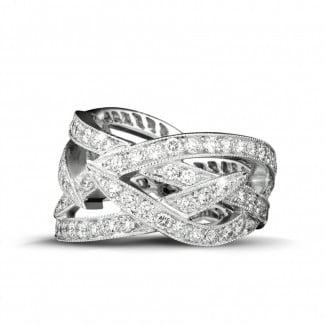 Nathu - 2.50 carat diamond design ring in white gold
