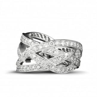 Platinum Diamond Rings - 2.50 carat diamond design ring in platinum