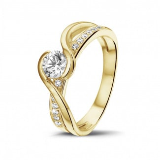 Classics - 0.50 carat solitaire diamond ring in yellow gold