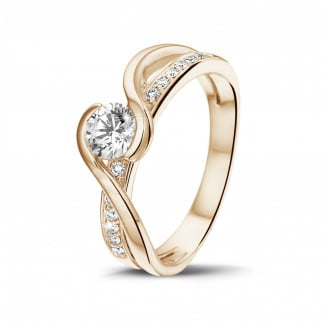 Classics - 0.50 carat solitaire diamond ring in red gold