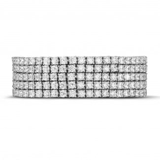 White Gold - 25.90 Ct wide tennis bracelet in white gold
