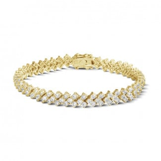 Yellow Gold - 9.50 Ct bracelet in yellow gold with fishtail design