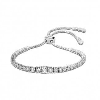 Classics - 1.50 carat diamond gradient bracelet in white gold