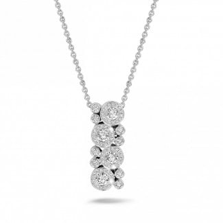 Necklaces - 1.20 carat diamond necklace in white gold