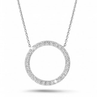 New Arrivals - 0.54 carat diamond eternity necklace in white gold