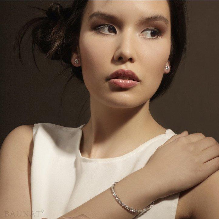 0.60 carat diamond satellite earrings in white gold