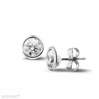 1.00 carat diamond satellite earrings in white gold