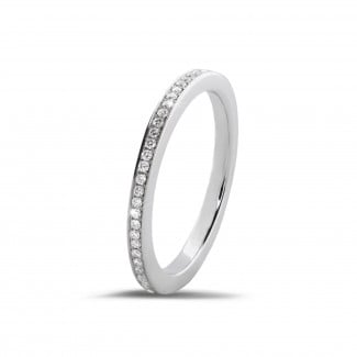 Bestsellers - 0.22 carat diamond eternity ring (full set) in white gold