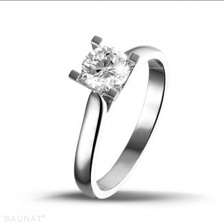 Classics - 0.75 carat solitaire diamond ring in white gold