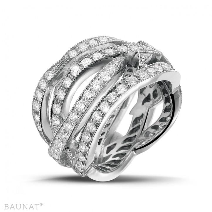 2.50 carat diamond design ring in white gold