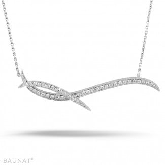 Nathu collection - 1.06 carat diamond design necklace in platinum