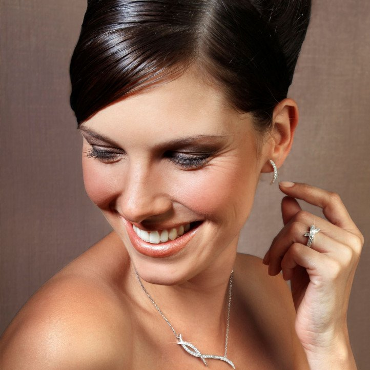 1.06 carat diamond design necklace in platinum